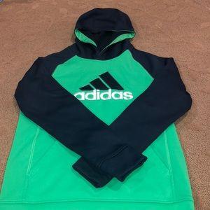 Adidas boys hoodie sweatshirt size L